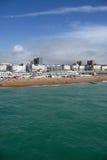 Litoral da praia de Brigghton Fotografia de Stock