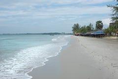 Litoral da praia de Sihanoukville fotografia de stock