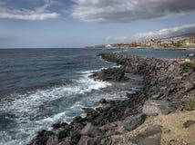 Litoral de Adeje, Tenerife fotos de stock