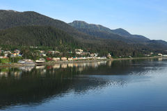 Litoral de Alaska em Juneau Fotos de Stock Royalty Free