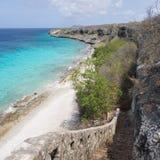 Litoral de Bonaire fotografia de stock