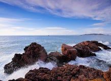 Litoral de Ibiza, Balearic Island imagens de stock