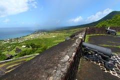 Litoral de Saint Kitts imagens de stock