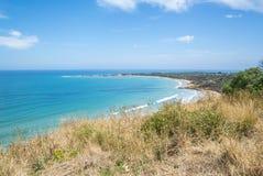 Litoral de uma praia rochosa ao longo da grande estrada do oceano, Victoria Foto de Stock