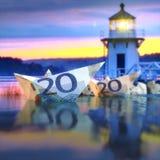 Litoral do dinheiro foto de stock royalty free