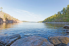 Litoral do Lago Ladoga Fotografia de Stock