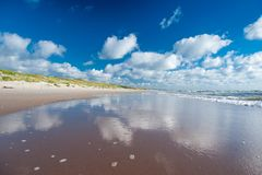 Litoral do mar Báltico - cuspe de Curonian, Nida Imagens de Stock Royalty Free