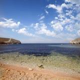 Litoral do mar com espuma, pedras, Fotografia de Stock