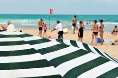 Litoral do mar Mediterrâneo de Israel Imagem de Stock Royalty Free