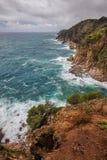 Litoral do mar Mediterrâneo em Costa Brava na Espanha Fotos de Stock Royalty Free