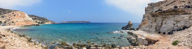 Litoral do mar perto de Falasarna na ilha da Creta, Grécia Fotografia de Stock