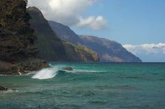 Litoral do Na Pali de Kauai fotos de stock royalty free