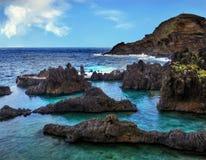 Litoral do norte, Madeira, Portugal imagem de stock
