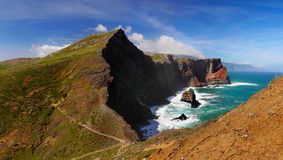 Litoral do norte Ponta de Sao Lourenco, Madeira, Portugal fotografia de stock royalty free
