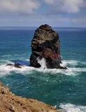 Litoral do norte Ponta de Sao Lourenco, Madeira, Portugal foto de stock