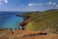 Litoral do norte Ponta de Sao Lourenco, Madeira, Portugal fotografia de stock