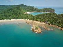 Litoral do oceano de Nicarágua imagem de stock royalty free
