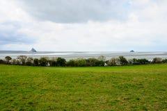 Litoral e Le Mont-Saint-Michel Imagem de Stock