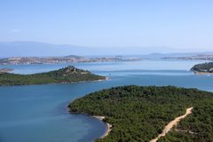 Litoral em Ayvalik Turquia Foto de Stock