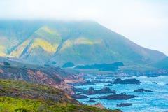 Litoral em Big Sur, Califórnia fotos de stock royalty free