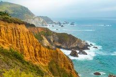 Litoral em Big Sur, Califórnia fotografia de stock