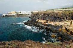 Litoral em Callao Salvaje, Tenerife, Espanha imagens de stock royalty free
