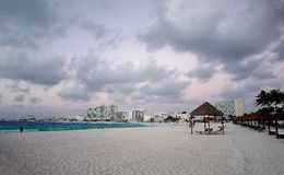 Litoral em Cancun, México imagens de stock royalty free
