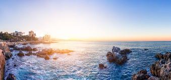 Litoral em Vina del Mar, o Chile fotografia de stock