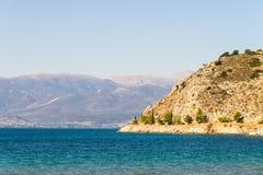 Litoral grego do mar, seascape imagem de stock