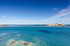 Litoral grego, vila de Agios Fokas fotos de stock royalty free