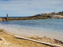 Litoral grego, vila de Agios Fokas fotografia de stock royalty free