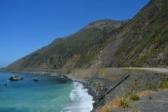 Litoral lindo de Califórnia da costa central de Big Sur Imagem de Stock