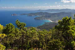 Litoral mediterrâneo Imagem de Stock Royalty Free