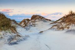 Litoral nacional North Carolina de Hatteras do cabo das dunas de areia foto de stock