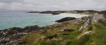 Litoral norte da Irlanda durante o dia chuvoso Fotos de Stock Royalty Free