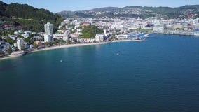 Litoral oriental de Wellington da baía vídeos de arquivo