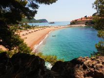 Litoral, Sveti Stefan, Montenegro fotos de stock royalty free