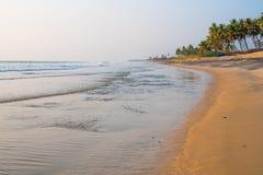 Litoral tropical na Índia - praia de Kappil Fotografia de Stock