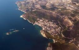 Litorale adriatico del Montenegro fotografia stock libera da diritti