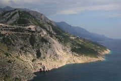 Litorale adriatico di Makarska Immagine Stock