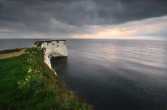 Litorale al mare - Dorset, l'Inghilterra immagine stock
