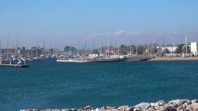 Litorale bella oceano della baia vista di Francia, video 4k stock footage