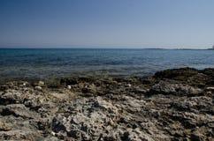 Litorale del Cipro Fotografia Stock Libera da Diritti