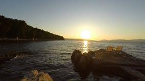 Litorale del Croatia stock footage