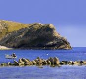 Litorale del Dorset della baia di Lulworth fotografia stock
