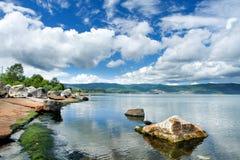 Litorale del lago Baikal Fotografie Stock Libere da Diritti