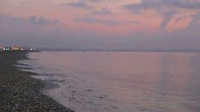 Litorale del Mar Mediterraneo al tramonto stock footage