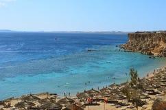 Litorale del Mar Rosso (spiaggia) in Sharm El Sheikh Fotografia Stock Libera da Diritti