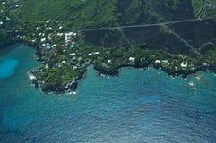 Litorale del sud di Kona, grande colpo dell'antenna dell'isola Fotografie Stock