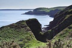 Litorale del sud di Pembrokeshire Fotografia Stock Libera da Diritti